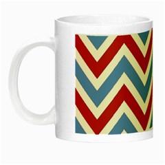 Zig zags pattern Night Luminous Mugs