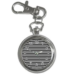 Horizontal Stripes Black Key Chain Watches