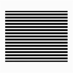 Horizontal Stripes Black Small Glasses Cloth