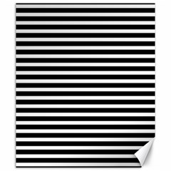 Horizontal Stripes Black Canvas 20  X 24