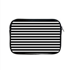 Horizontal Stripes Black Apple Macbook Pro 15  Zipper Case