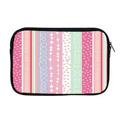Heart Love Valentine Polka Dot Pink Blue Grey Purple Red Apple Macbook Pro 17  Zipper Case