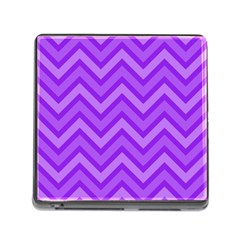 Zig zags pattern Memory Card Reader (Square)