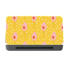 Flower Floral Tulip Leaf Pink Yellow Polka Sot Spot Memory Card Reader With Cf