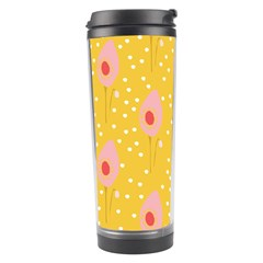 Flower Floral Tulip Leaf Pink Yellow Polka Sot Spot Travel Tumbler