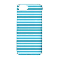 Horizontal Stripes Blue Apple Iphone 7 Hardshell Case