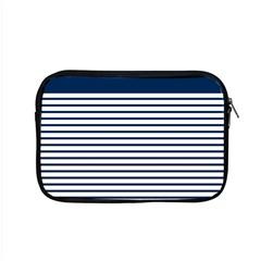 Horizontal Stripes Blue White Line Apple Macbook Pro 15  Zipper Case