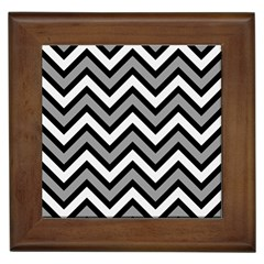 Zig zags pattern Framed Tiles
