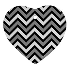 Zig zags pattern Heart Ornament (Two Sides)
