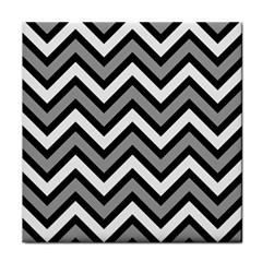 Zig zags pattern Tile Coasters
