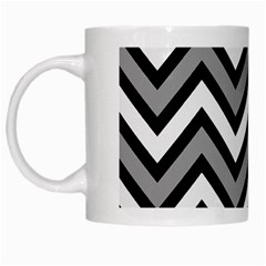 Zig zags pattern White Mugs