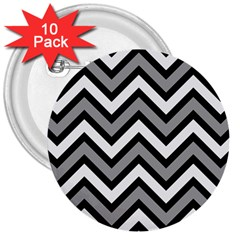 Zig zags pattern 3  Buttons (10 pack)