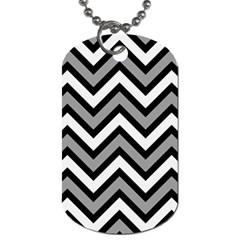 Zig zags pattern Dog Tag (Two Sides)