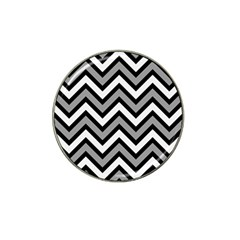 Zig zags pattern Hat Clip Ball Marker (4 pack)
