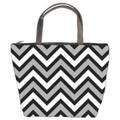 Zig zags pattern Bucket Bags