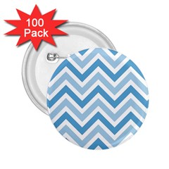 Zig zags pattern 2.25  Buttons (100 pack)