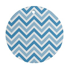 Zig zags pattern Round Ornament (Two Sides)