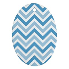 Zig zags pattern Oval Ornament (Two Sides)
