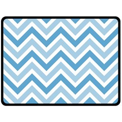 Zig zags pattern Fleece Blanket (Large)