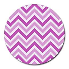 Zig zags pattern Round Mousepads