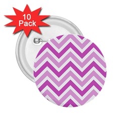 Zig zags pattern 2.25  Buttons (10 pack)
