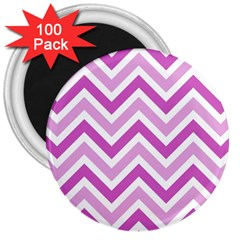 Zig zags pattern 3  Magnets (100 pack)