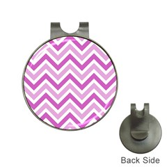 Zig zags pattern Hat Clips with Golf Markers