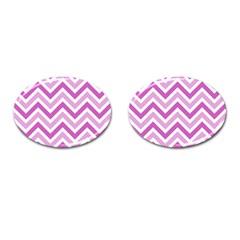 Zig zags pattern Cufflinks (Oval)