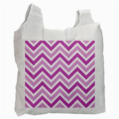 Zig zags pattern Recycle Bag (One Side)