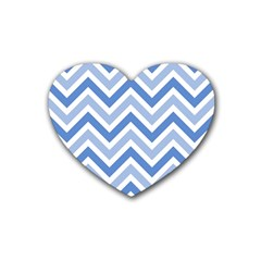 Zig zags pattern Rubber Coaster (Heart)