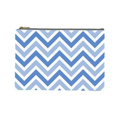 Zig zags pattern Cosmetic Bag (Large)