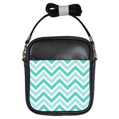 Zig zags pattern Girls Sling Bags