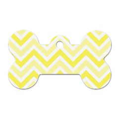 Zig zags pattern Dog Tag Bone (One Side)