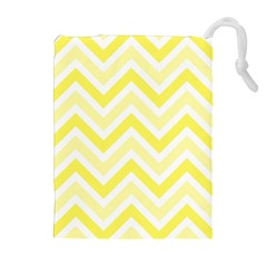 Zig zags pattern Drawstring Pouches (Extra Large)