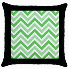 Zig zags pattern Throw Pillow Case (Black)