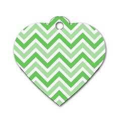 Zig zags pattern Dog Tag Heart (One Side)