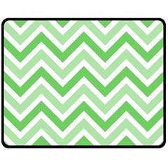 Zig zags pattern Fleece Blanket (Medium)