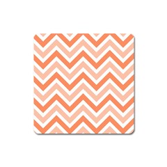 Zig zags pattern Square Magnet