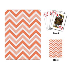 Zig zags pattern Playing Card