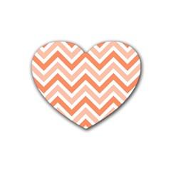 Zig zags pattern Rubber Coaster (Heart)