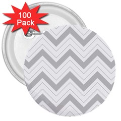 Zig zags pattern 3  Buttons (100 pack)