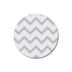 Zig zags pattern Rubber Coaster (Round)