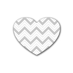 Zig zags pattern Heart Coaster (4 pack)