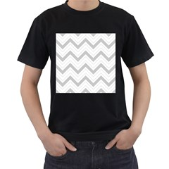 Zig zags pattern Men s T-Shirt (Black)