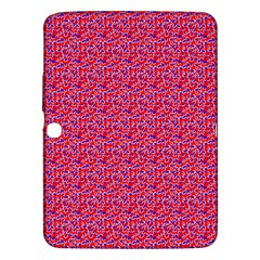 Red White And Blue Leopard Print  Samsung Galaxy Tab 3 (10 1 ) P5200 Hardshell Case