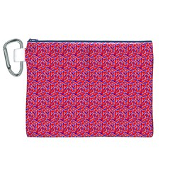 Red White And Blue Leopard Print  Canvas Cosmetic Bag (xl)
