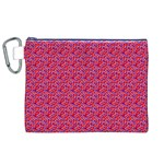 Red White and Blue Leopard Print  Canvas Cosmetic Bag (XL) Front