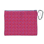 Red White and Blue Leopard Print  Canvas Cosmetic Bag (XL) Back