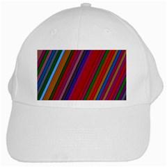 Color Stripes Pattern White Cap