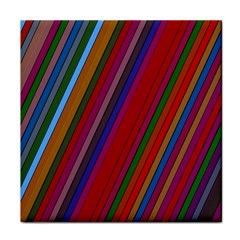 Color Stripes Pattern Tile Coasters